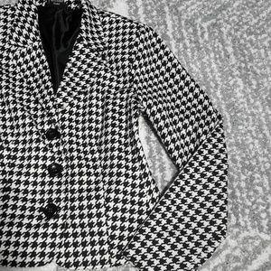 Metaphor Black & White Houndstooth Blazer